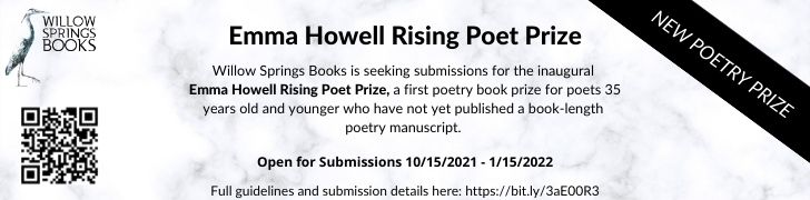 NEW! Submit to the inaugural Emma Howell Rising Poet Prize